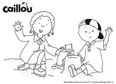 Caillou Friendship Fun: Sandcastles with Clementine!