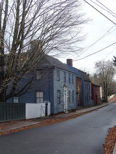 Antique Homes on Strawbery Banke, Portsmouth, New Hampshire