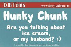 DJB HUNKY CHUNK font by Darcy Baldwin Fonts - FontSpace
