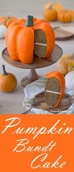 This soft and moist pumpkin bundt cake just might be the ultimate edible holiday centerpiece! | Pumkin cake, Pumpkin recipes, Pumpkin desserts, Thanksgiving Centerpieces