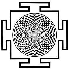 Sahasrara Yantra - Crown Chakra - non-dualiteit - heelheid - bliss - bewustzijn - levensvreugde