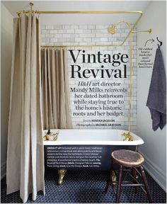 Black Clawfoot tubDIY Copper Shower Curtain Rod   Shower curtain rods  Tubs and House. Shower Curtain Ring For Clawfoot Tub. Home Design Ideas
