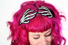 Christmas Gift Ideas ~ skull hand headband - skull accessory Great gift ideas at http://KindleLaptopsetc.com