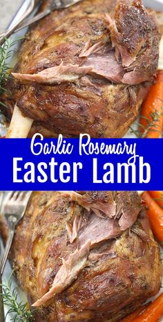 Thinking about an easter lamb roast? A slow roasted garlic rosemary lamb shoulder with carrots - moist, tender, pull-apart lamb shoulder with a garlic, rosemary & cumin rub served with baby carrots an Lamb Roast Recipe, Lamb Chop Recipes, Roast Recipes, Cooking Recipes, Cooking Lamb Roast, Recipes For Lamb, Cooking Joy, Cooking Light, Recipes Dinner