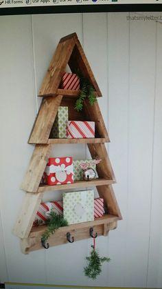 Christmas Tree shelf.