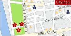 Targu Jiu City Map Harta Orasului Targu Jiu Romania Travel