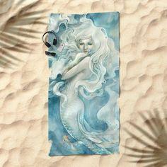 Mermaid Beach Towel by StrijkDesign   Society6