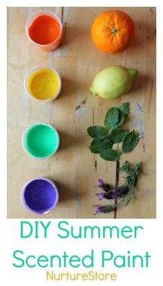 How to make scented paint - a great sensory recipe for kids. Love the art ideas on this site!