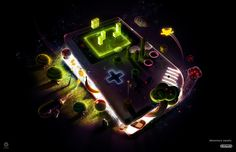 #gameboy #game #illustration #tetris #light #plus