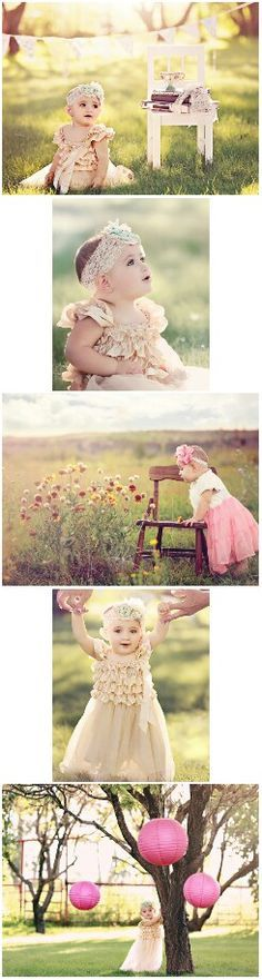 1 year old baby girl photo shoot ideas