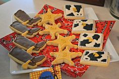 Abbey D's Birthday / Toy Story - Photo Gallery at Catch My Party Woody Birthday, Toy Story Birthday, 1st Birthday Parties, 3rd Birthday, Birthday Ideas, Toy Story Theme, Toy Story Party, Cake Decorating Supplies, Cookie Decorating