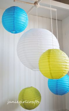Lighted Paper Lanterns Customizable Large Lighted Paper Lantern Balloon Mobiles  White