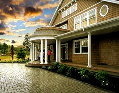 New England Cottage Design Ideas, Pictures, Remodel, and Decor - page 18 Cottage Design, House Design, Garage Design, New England Cottage, Nantucket Home, Nantucket Style, Craftsman Exterior, Exterior Doors, Exterior Paint