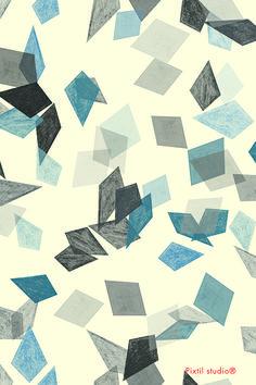 Pixtil studio® pattern diamond black blue design textile creative coding gradation fashion www.pixtil-studio.fr