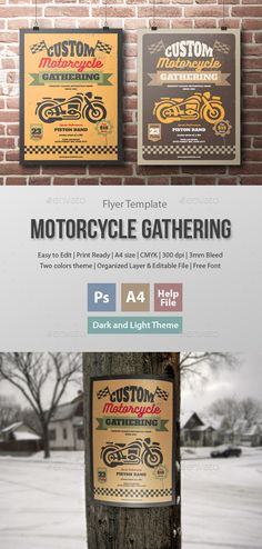 Motorcycle Gathering Flyer Template