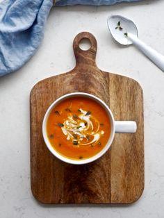 Porkkana-appelsiinikeitto resepti Food N, Chorizo, Bon Appetit, Vegetarian, Baking, Ethnic Recipes, Kitchen, Cooking, Bakken