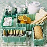 what a cute tea station!