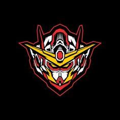 Robot Head With Sacred Geometry Vector Illustration Gundam Head, Gundam Art, Vector Robot, Vector Art, Robot Logo, Gundam Wallpapers, Sports Logo, T Rex, Sacred Geometry