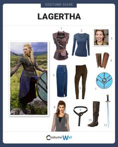 Head into battle dressed like Lagertha, the fierce shield-maiden and former wife to King Ragnar on the TV show Vikings.