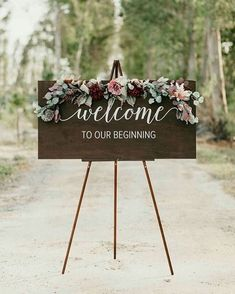 Wedding Welcome Sign - Wedding Signs - Acrylic Wedding Sign - Lucite Wedding Sign - Wedding Signs - Acrylic Wedding Signs - Acrylic Wedding Signs -c 30 fantastic floral wedding decorations that wowFloral wedding Fall Wedding, Dream Wedding, Elegant Wedding, Trendy Wedding, Romantic Weddings, Wedding Country, Perfect Wedding, Casual Wedding, Cheap Wedding Ideas