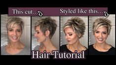 Pixie Hair Tutorial: Spiked with a Staggered Part Short Haircuts Over 50, Short Spiky Hairstyles, Short Hair Cuts, Short Hair Styles, Prom Hairstyles, Choppy Hair, Edgy Pixie Hair, Short Pixie, Pixie Cut