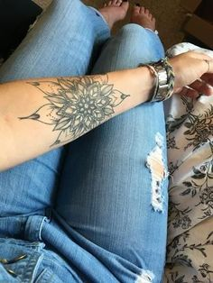 Forearm Tattoo Ideas at MyBodiArt - Arm Mandala Temporary Tattoo for Women #armtattoos