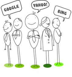 Our lovely Search stick people