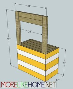 This would make a cute cake table for summer party. More Like Home: Day 11 - Build a Lemonade Stand