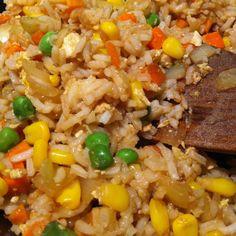 Homemade fried rice.