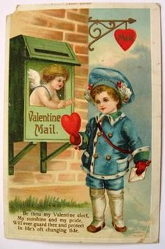 for you - this card was lost in the mail for some time -Ellen Clapsaddle Valentine Mail Postcard
