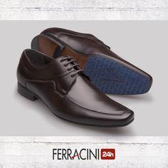 O modelo Madrid 4087B tem o solado produzido em couro com antiderrapante personalizado a laser.   Encontre aqui:http://bit.ly/29hsmPQ    #ferracini24h #shoes #cool #trend #brasil #manshoes