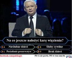 Jarosław Kaczyński w Milionerach - za co jeszcze karaćwięzieniem?