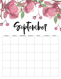 Monthly Calendar Template, Weekly Planner Printable, Free Printable Calendar, Planner Sheets, Planner Pages, Print Calendar, Calendar Quotes, Calendar 2019 And 2020, Preschool Arts And Crafts