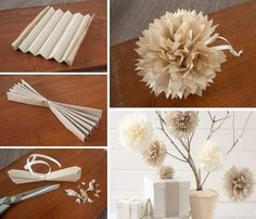 DIY virágdekorációk papírból