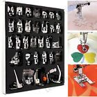32pcs/Set Presser Foot Feet For Brother Singer Domestic Sewing Machine