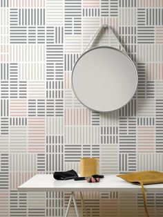 Newspaper / non-woven wallpaper / lavmi