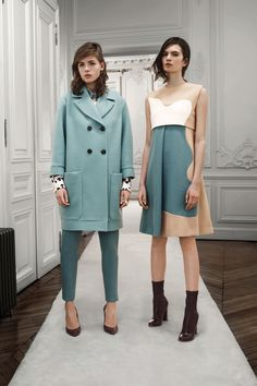 Color Palette, organic shaped color blocking on flowing, feminine silhouette. Inspiration Chloe Pre-Fall 2013