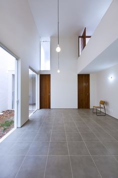 Large format floor tiles more civilized look vs concrete