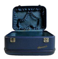 Vintage Luggage Blue Mid Century Travel Case by @PlumsandHoney #storage