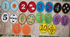 Number 123 Felt Matching Game Egg Shaped by cabincraftycreations