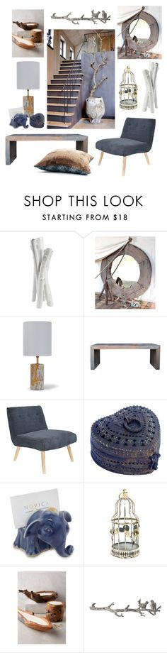 """""""Nomad"""" by gangdise ❤ liked on Polyvore featuring interior, interiors, interior design, home, home decor, interior decorating, Bellagio, HomArt, Frontgate and Moe's Home Collection"""