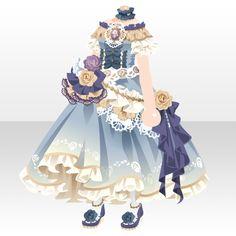 上半身/インナー ピグマリオンドールオフショルダードレスブルー Anime Outfits, Dress Outfits, Cute Outfits, Anime Uniform, Person Drawing, Anime Dress, Cocoppa Play, Anime Hair, Drawing Clothes