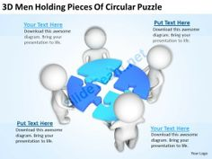 3D men Holding Pieces of Circular Puzzle Ppt Graphics Icons Powerpoint #Powerpoint #Templates #Infographics