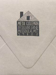 Cabin Custom Stamp