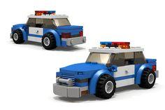 Custom LEGO Police Car MOC http://www.custombricksets.com/product/lego-blue-police-car/