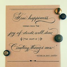 True happiness is... #calligraphy