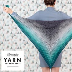 The Stormy Day Shawl in Scheepjes Whirl by Kirsten Ballering. By using just one ball of yarn you can create a beautifully draped and interesting shawl.