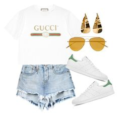 Untitled #4182 by lily-tubman on Polyvore featuring moda, Gucci, adidas and Tomas Maier