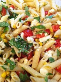 Summer Pasta Salad #Recipe #Food #Dinner
