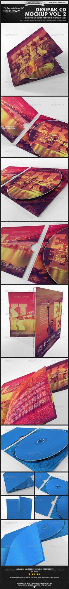 Digipak CD Mockup Vol. 2 - Kit - Discs Packaging
